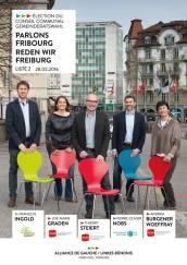 Je m'engage au sein d'une alliance de gauche/centre gauche pour conserver la majorité au Conseil commnal de Fribourg
